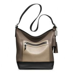 COACH Leather Legacy Colorblock Large Duffle (Black/Multi) - $487