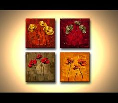 Modern landscape paintings on canvas. Flourish is a hand-painted artwork, created by the artist Osnat Tzadok. An online art gallery of modern paintings - artwork id Art Floral, Canvas Painting Landscape, Knife Painting, Cityscape Art, Kunst Poster, Panel Wall Art, Poster On, Online Art Gallery, Modern Art