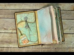 Fancy Policy Envelope Travel/Art Journal Pages and Simple Binding - YouTube
