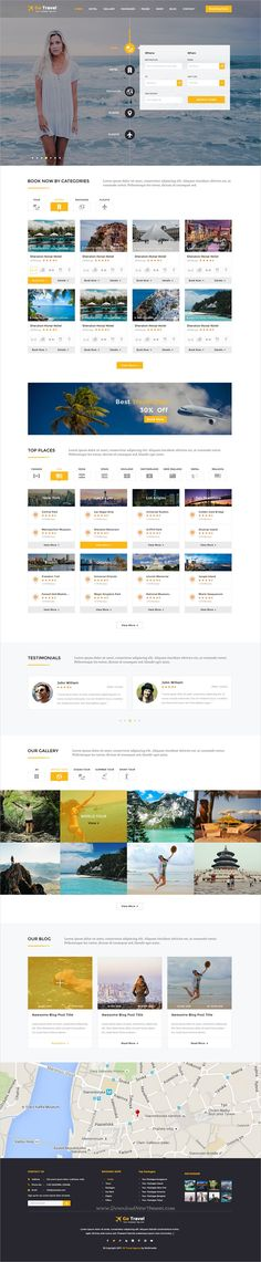 Go travel is a wonderful #PSD template for #travel and tour #agencies online #booking website with 4 homepage layouts and 55+ organized PSD files download now➩ https://themeforest.net/item/travel-psd-template/19586859?ref=Datasata