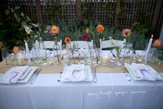 Simple brown kraft paper table runner | A Practical Wedding