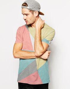 ASOS – T-Shirt mit abstraktem Print und lockerem Schnitt