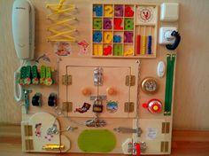 Busy Board Activity Board Sensory Board by BusyBoardOlga on Etsy Sensory Games, Sensory Wall, Sensory Boards, Toddler Gifts, Toddler Toys, Baby Toys, Kids Toys, Diy Busy Board, Busy Boards For Toddlers