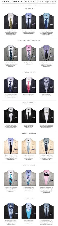 Cheat Sheet: Ties & Pocket Squares