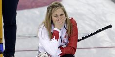 Canada captured Olympic gold in women's curling Thursday.Jennifer Jones and her team from Winnipeg defeated Sweden to secure a perfect record in the tournament. It is the first time in Olympic his. Olympic Curling, Women's Curling, Olympic Gold Medals, Jennifer Jones, Sports Stars, Olympics, Curls, Athlete, Rain Jacket