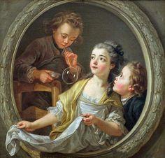 Charles Amédée Philippe Vanloo: Soap Bubbles, 1764
