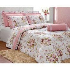 Dream Bedroom, Home Bedroom, Home Decor Bedding, Bedroom Decor, Cama Floral, Bed Cover Design, Cama Queen, Floral Bedding, Linen Bedroom
