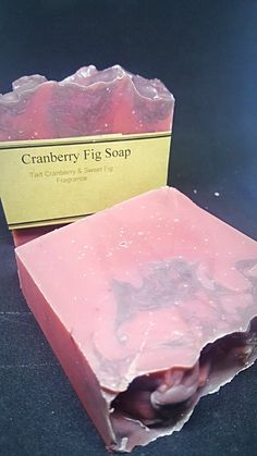 Cranberry Fig Soap Cocoa Butter, Shea Butter, Pink Grapefruit, Blood Orange, Fragrance Oil, Fig, Tart, Coconut, Delicate