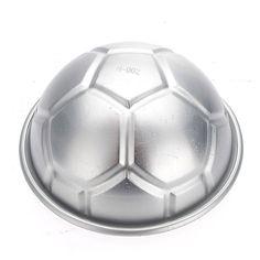 1b24d968e3e1 3.Diy pastel de cumpleaños molde para hornear pan gelatina de aluminio de  fútbol 3d