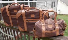 Vintage Amelia Earhart Luggage Set - Three Piece Brown Bravo Luggage Set by CraftItVintage on Etsy