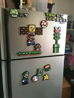 Mario fridge. #perlerbeads
