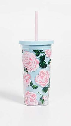 do Floral Insulated Sip Sip Tumbler with Reusable Straw, 20 Ounces (Rose Parade) Vintage Headbands, Cup With Straw, Plastic Tumblers, Insulated Tumblers, Tumbler Cups, Pink Roses, Christmas Gifts, Floral Prints, Free