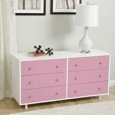 Beckham Pink Dresser | Overstock.com Shopping - Big Discounts on Kids' Dressers