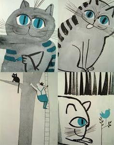 """trying to find this somewhere...Abner Graboff """"A Fresh Look at Cats"""""""