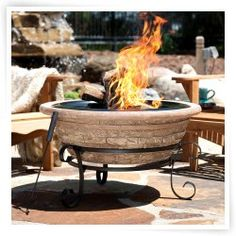 Fireside Escapes Old Frontier Magnesia Fire Pit $170
