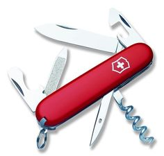 Victorinox Swiss Army Sportsman Pocket Knife (Red) * You can get more details by clicking on the image.