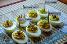 4 different ways to do deviled eggs