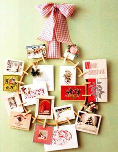 christmas card display ideas -