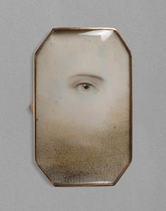 Portrait of a Right Eye / English, c. 1790-1800 / Watercolor on ivory