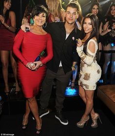 Close again? The Keeping Up With The Kardashians star with Rob (center) in 2012 and with m...