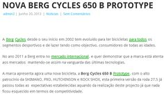New Berg Cycles