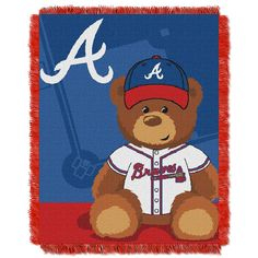 Atlanta Braves MLB Triple Woven Jacquard Throw (Field Baby Series) (36x48)