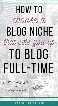 how to pick a blog niche