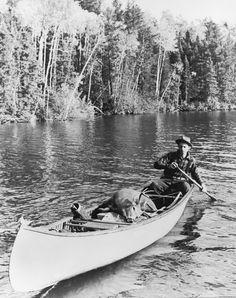Deer hunting via canoe