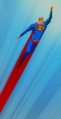 """entire wall this blue color, left side with this superman flying, to the right lettering that says """"GET IT IN"""" for the workout room"""