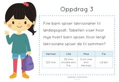 oppdrag: matematikk Fourth Grade, Third Grade, Daily Challenges, Teaching Math, Maths, Numeracy, Early Learning, Back To School, Barn