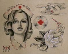 red cross nurse tattoo - Google Search