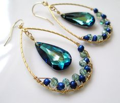 Empress... large matte gold teardrop hoops with bermuda by 10west, $55.00