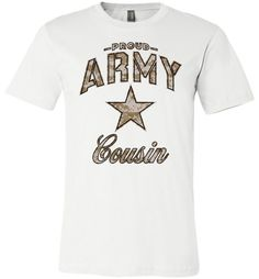 Proud Army Cousin Camo Unisex T-Shirt