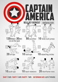 Captain America workout.