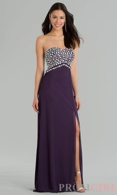 Prom Dresses, Celebrity Dresses, Sexy Evening Gowns - PromGirl: Floor Length Strapless #prom #dresses #gowns