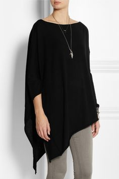 Donna Karan|Draped cashmere poncho