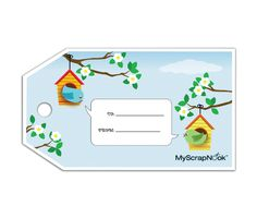 Download this Love Birds Gift Tag and other free printables from MyScrapNook.com
