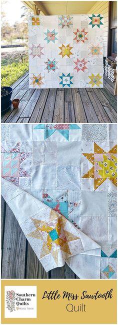 Star Quilt Patterns, Modern Quilt Patterns, Star Quilts, Quilting Ideas, Quilting Projects, Quilting Designs, Fabric Patterns, Quilt Blocks, Little Miss