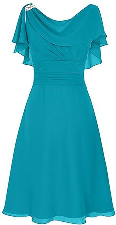 Teal Mother Of The Bride Dresses Beaded Mini Women's Party Gowns 2 4 6 8 Plus Size Formal Dresses, Bridesmaid Dresses Plus Size, Elegant Dresses, Pretty Dresses, Short Dresses, Dress Formal, Backless Prom Dresses, Bride Dresses, Dress Neck Designs