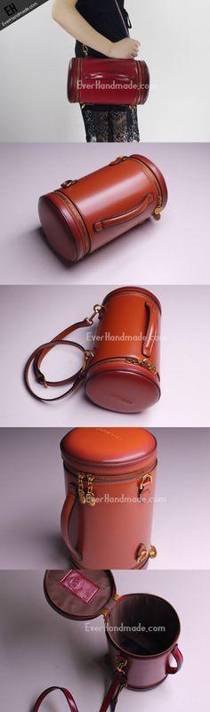 Genuine Leather round bag shoulder bag for women leather crossbody bag