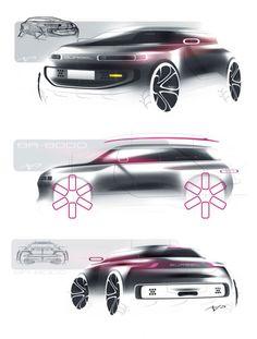 Gurgel BR-8000 Concept by Arthur Martins - Design Sketches
