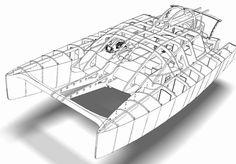 Wooden Boat Plans For Free Power Catamaran, Sailing Catamaran, Yacht Boat, Pontoon Boat, Yacht Design, Boat Design, Rhino 3d, John Boats, Cruiser Boat