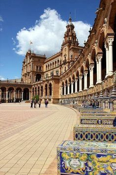 Plaza de España/Spanish Square in Seville - Andalusia, Spain Places Around The World, Oh The Places You'll Go, Places To Travel, Places To Visit, Around The Worlds, Madrid, Bósnia E Herzegovina, Places In Spain, Spain Travel