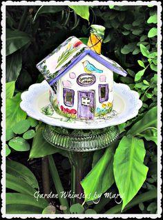 Grandma's Cottage Garden Totem Stake  As by GardenWhimsiesByMary, $35.00