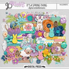 It's a Spring Thing | Digital Elements by Juno Designs and WendyP Designs