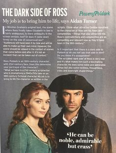 """Poldark, The dark side of Ross. """"Ross Poldark is a south coast Heathcliff: aloof and stubbornly principled, prone to violent outbursts and brooding grumpily over real or imagined slights."""" Je trouve tout de même qu'il est moins extrême qu'Heathcliff !"""