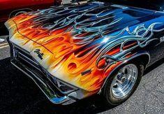 Custom Muscle Cars, Chevy Muscle Cars, Custom Cars, Car Paint Jobs, Custom Paint Jobs, Air Brush Painting, Car Painting, Hot Rods, Airbrush Art