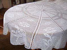 Manteles rectangulares tejidos a crochet patrones - Imagui