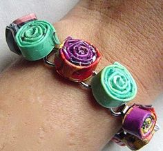 A few more ways to make jewelry from old magazines!