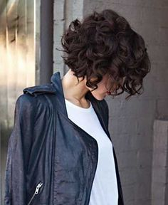 Lovely and Eye Catching Curly Bob Haircuts 2015